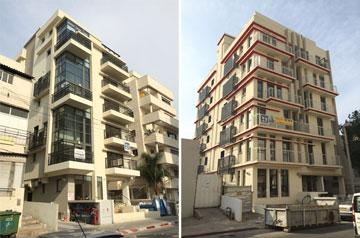 בניינים חדשים ברחובות נווה שאנן. עוד רבים יקומו? (צילום: אסף אשרוב, ''תואם אדריכלות'')