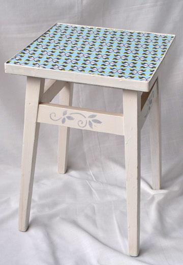 הכיסא לאחר השיפוץ. בעל עומק שלא קיים ברהיטים ישנים (צילום: אביבית ירקוני כהן )