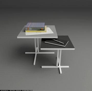 שולחנות צד Tavolino בעיצוב ואסילב, ל-Living Divani (באדיבות ויקטור ואסילב)