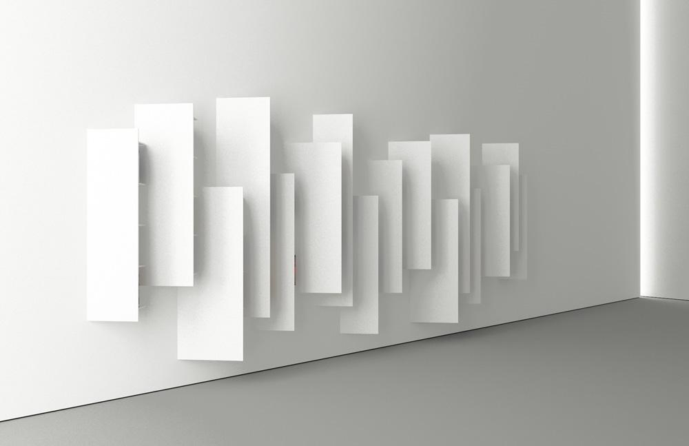 כך זה נראה מצד אחד: פריט פיסולי מינימליסטי ובוהק (באדיבות ויקטור ואסילב)