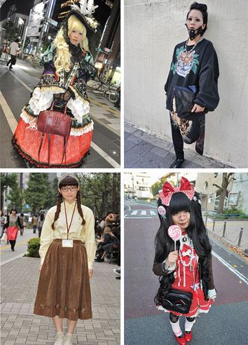 הצעירים של טוקיו לחלוטין מפרגנים לאופנה מקומית לצד אופנה מערבית  (באדיבות japanesestreets.com)