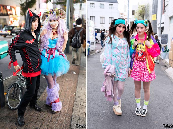 מאפיין בולט של האופנה היפנית הוא הרצון להתיילד על מנת להילחם באורח החיים הקפיטליסטי והקדחתני הקשוח של יפן  (באדיבות tokyofashion.com)