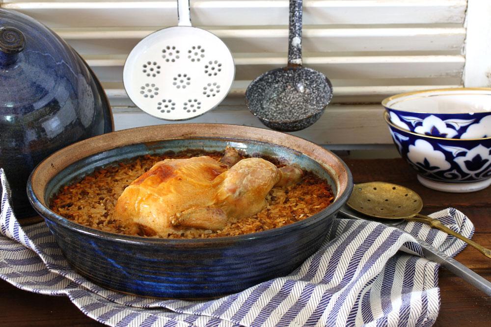 קדרת עוף ואורז (צילום: אסנת לסטר)