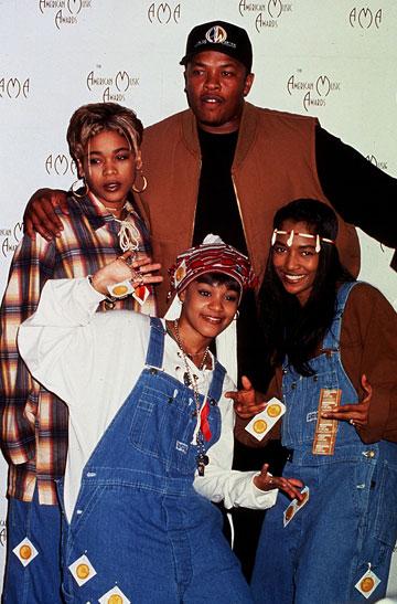 """ד""""ר דרה ולהקת TLC. """"האטיטיוד של היפ הופ, האגרסיה של היפ הופ, היתה תמיד גברית"""" (rex/asap creative)"""