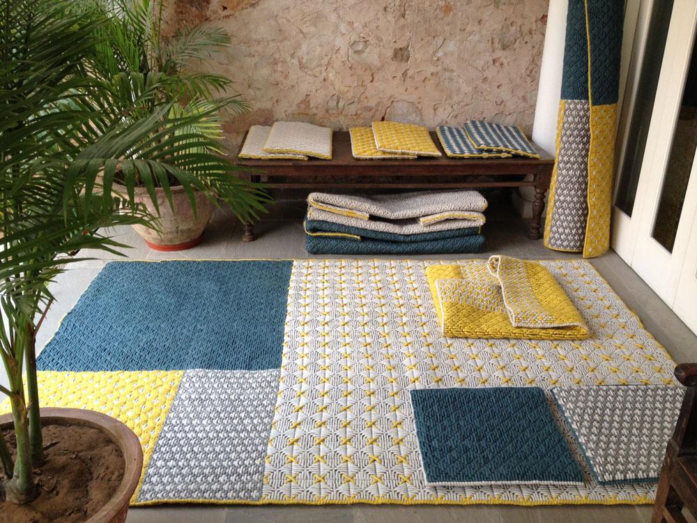 שטיחים וריפודים קלילים של Gan הספרדים, בקולקציה שנקראת Silai (תפר בהודית) של הבלגית  Charlotte Lancelot (צילום: SILAÏ by Charlotte Lancelot)