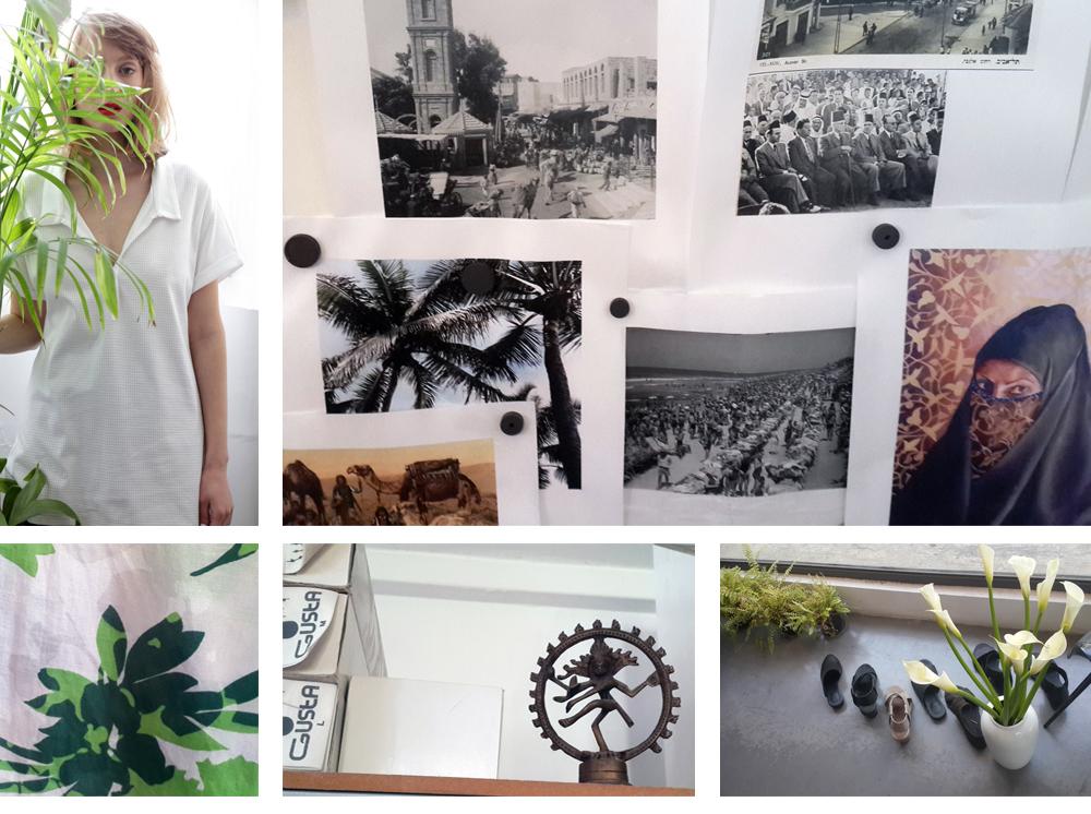 """הסטודיו של אילה מרומי-קינן וקולקציית אביב-קיץ 2015 של גוסטה בעיצובה. """"חשוב לי החלל הזה, אבל גם החיבור לחנות ולשוק"""" (צילום קולקציה: שרון ברקת )"""