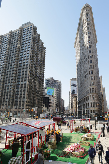 השקת אפליקציית משחק למובייל במנהטן (צילום: gettyimages)