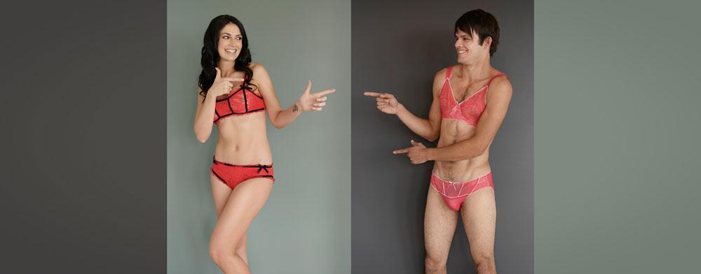 גורם לגברים להרגיש סקסיים יותר. תמונה מתוך הקטלוג החדש (מתוך HommeMystere.com)