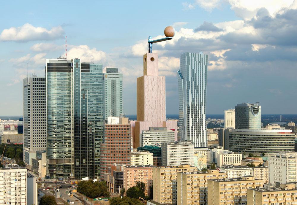 למי שחייב מזכרת מהעיר, אופציה משעשעת היא פלפלייה שמעוצבת בדמותו של ''ארמון המדע והתרבות'' במרכז העיר - מגדל אימתני שנבנה בהוראתו של סטאלין בשנות ה-50, ושהפך מסמלו של השלטון הסובייטי לסמל העיר. היום הוא מוקף במגדלים עכשוויים, ביניהם מגדל המפרש, שתיכנן דניאל ליבסקינד. צילום של הבניין האמיתי - בהמשך הכתבה (Courtesy of Hellowawa)