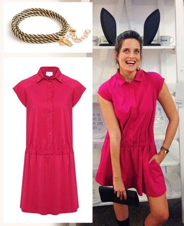 עדי שילון לובשת שמלה ורודה של Liah (מחיר: 520 שקל) ועונדת צמיד מתלפף של הגר סתת (מחיר: 239 שקל) (צילום: רפי דלויה, טל טרי, אבי ולדמן)