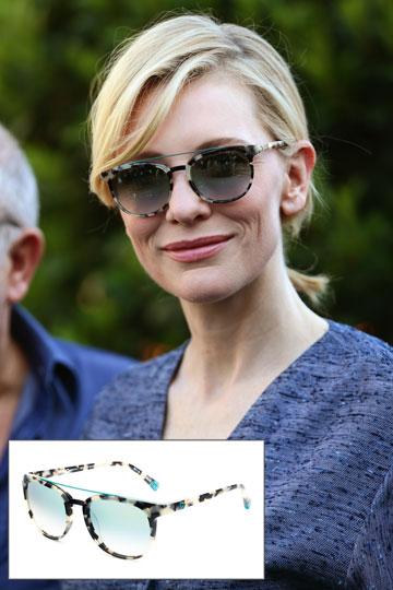 חושקת במשקפיים כמו של קייט בלאנשט? תדעי שהם שייכים למותג המשקפיים הספרדי Etnia Barcelona ואת יכולה להשיג אותם גם בארץ. כיף, הא? (1,300 שקל) (צילום: splashnews/asap creativ)