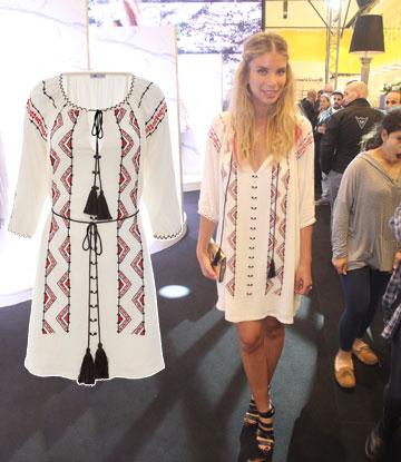 לירן כוהנר בוהו–שיקית בשמלת גלבייה של adikastyle (מחיר: 259 שקל) (צילום: רפי דלויה, טל קרת)