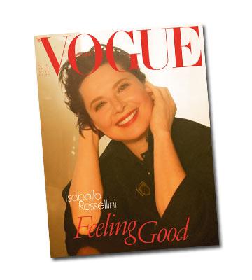 איזבלה רוסליני על שער מגזין ווג איטליה