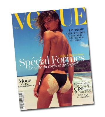 ג'יזל בונדשן על שער גיליון יוני של מגזין ווג פריז