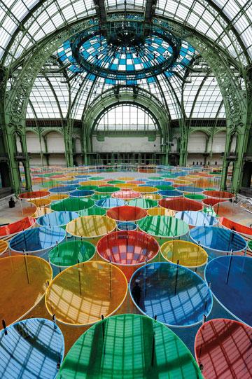 הגראנד פאלה. תערוכות מצליחות (צילום: Daniel Buren ADAGP Paris Photo Didier Plowy)