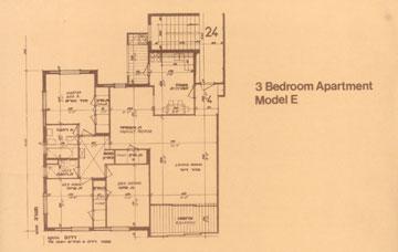 תוכנית דירת 3 חדרים (מתוך ארכיון אהרון דורון באדיבות גיא שניאור)