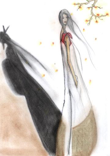 ניטה סאיורי (צ'יו) מ''זיכרונותיה של גיישה'' בבגדים בעיצובה של מאיה נגרי