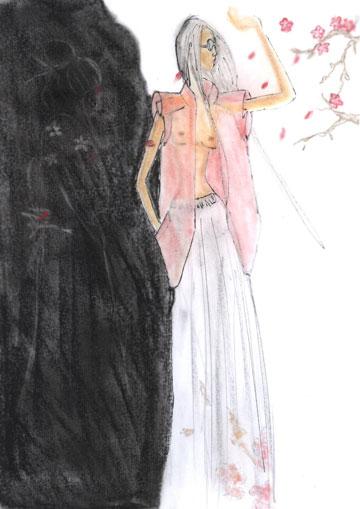 תלבושת נוספת שעיצבה מאיה נגרי לניטה סאיורי (צ'יו)