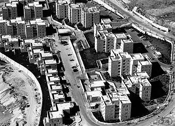 תלפיות מזרח בירושלים. שכונה בתכנונו של בסט (צילום: דוד בסט)