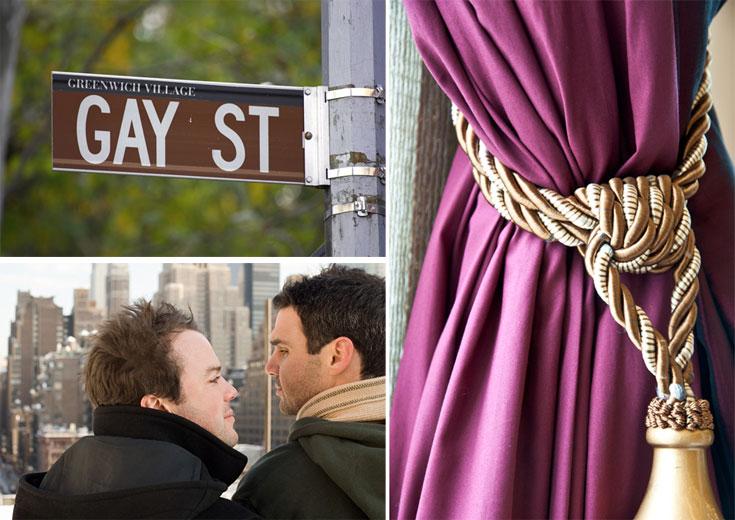 הרעיון בדירות האלה הוא שאין שום רעיון (מימין עם כיוון השעון): מוזהב כלשהו, שלט רחוב אהוב ופוסטר של ניו יורק (צילום: shutterstock)