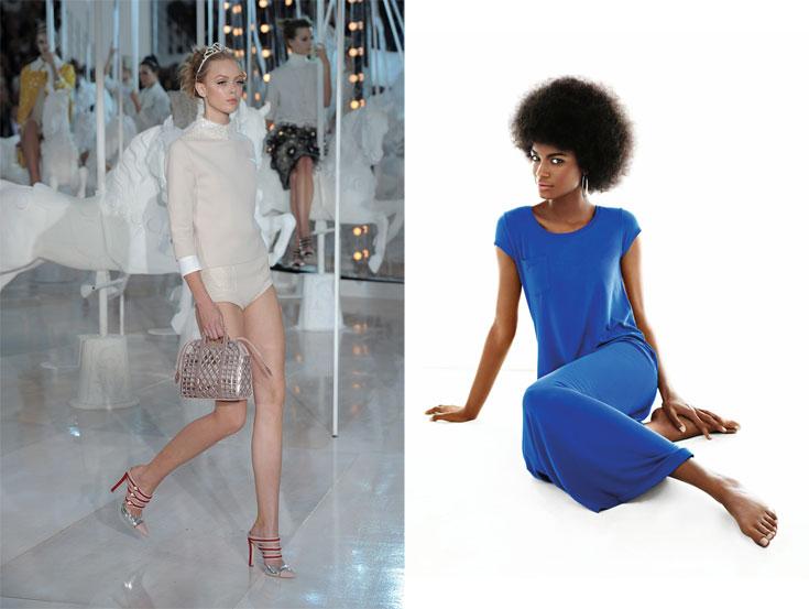 מימין: שמלה של גאפ,  הכי שווה לקנות באירופה; תיק של לואי ויטון, בישראל יותר זול מאשר בארצות הברית