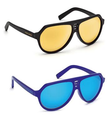 קיץ 2012: משקפיים עם עדשות מראה של Dsquared2 (צילום: איימי טל)