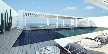 הדמיה של הבריכה במלון ''ריץ'' בהרצליה (צילום: באדיבות אילן ויסברוד)