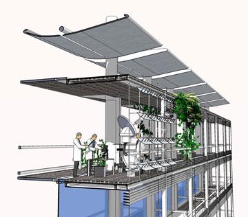 הדמיית מעבדות בבי''ס פורטר (באדיבות גאוטקטורה, אקסלרוד-גרובמן אדריכלים, חן אדריכלים)