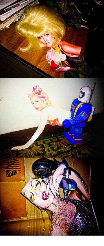 קולאז'ים לתערוכה העתידית, שנגזרו מהבוק המקצועי של איז'ק וצולמו בסלולרי (צילום: עידו איז'ק)