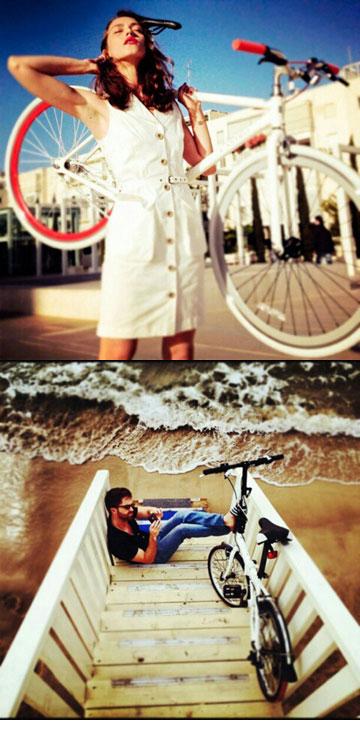 קמפיין האופניים של קסטרו לאינסטגרם. ''הם חברה שרוצה ללכת קדימה, להביא את הדבר הבא''  (צילום: עידו איז'ק)