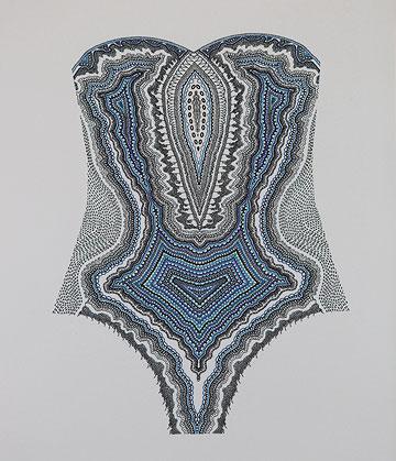 בגד ים של יסמין אידלמן, מתוך תערוכת הבוגרים של המחלקה לטקסטיל בשנקר (צילום: תמי דהן)