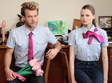הדוגמנים אלינה ומורטן בהפקת אופנה לעיתון ''העיר'' (צילום: תמר קרוון)