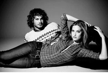 בר רפאלי ונועם טור בקמפיין לפוקס (צילום: עידו איז'ק)