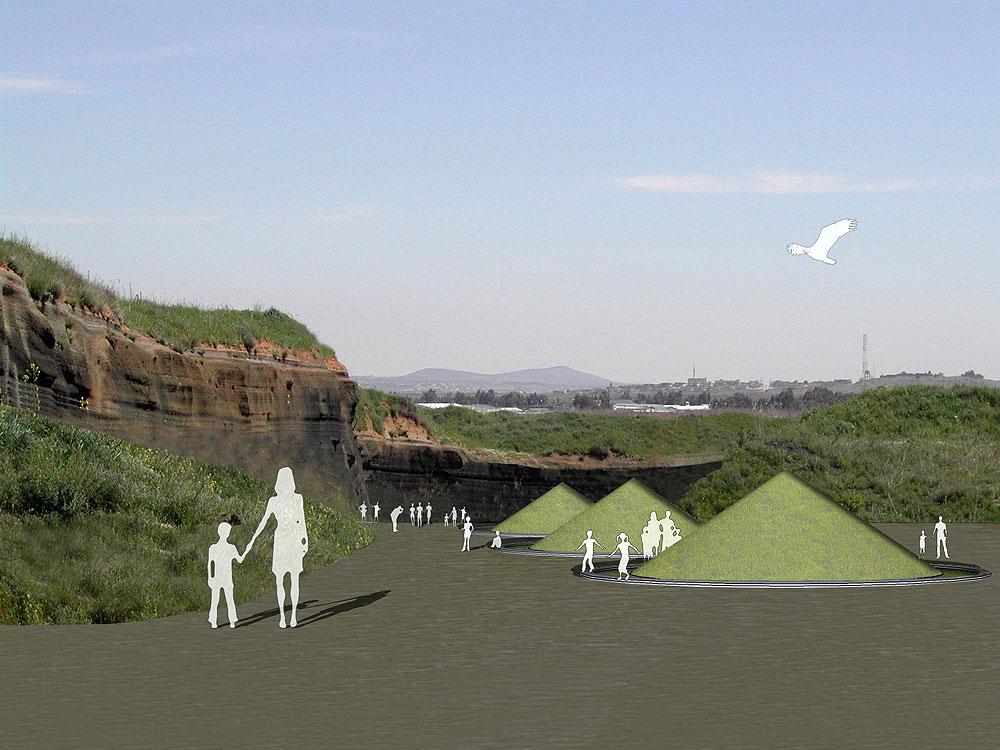 הדמיה נוספת של הפארק, בתכנון אדריכליות הנוף ורדית צורנמל ומיכל טורנר. השפעה שאין לאדריכלים ''רגילים'' (באדיבות צורנמל טורנר אדריכלות נוף)