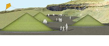 בין החרוטים, יטיילו וילמדו גיאולוגיה (באדיבות צורנמל טורנר אדריכלות נוף)