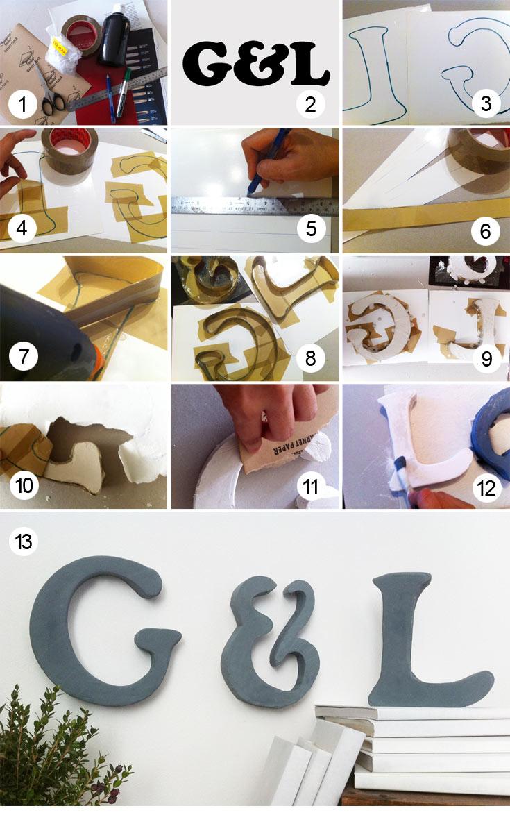 פשוט ולא יקר. תהליך הכנת האותיות (צילום: Studio G and L)