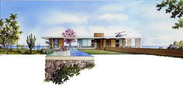 בית פרטי במקסיקו, בתכנון ויסברוד (הדמיה: באדיבות אילן ויסברוד)