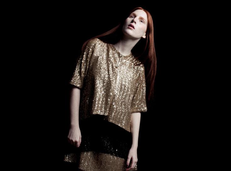 """דורין פרנקפורט. קולקציית קפסולה של בגדי ערב תחת השם """"מלכות הלילה"""" (צילום: אסף עיני)"""