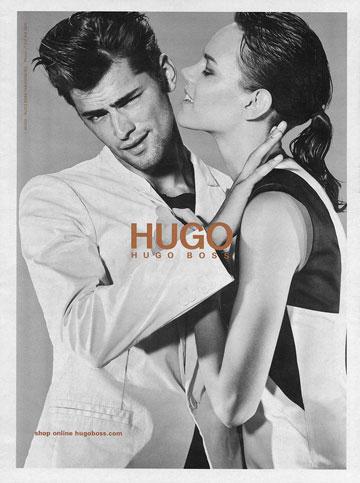 שון אופריי בקמפיין של הוגו בוס