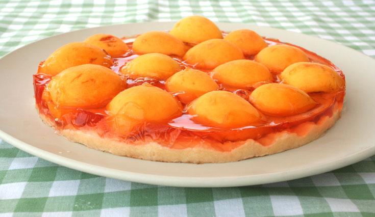עוגת משמשים עם ג'לי (צילום: אסנת לסטר         )