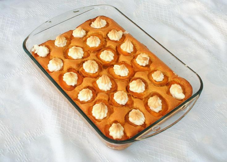 עוגת משמשים עם מרנג (צילום: אסנת לסטר         )