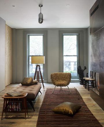 בית בצבעים מטאליים במנהטן (באדיבות Archi-Tectonics)