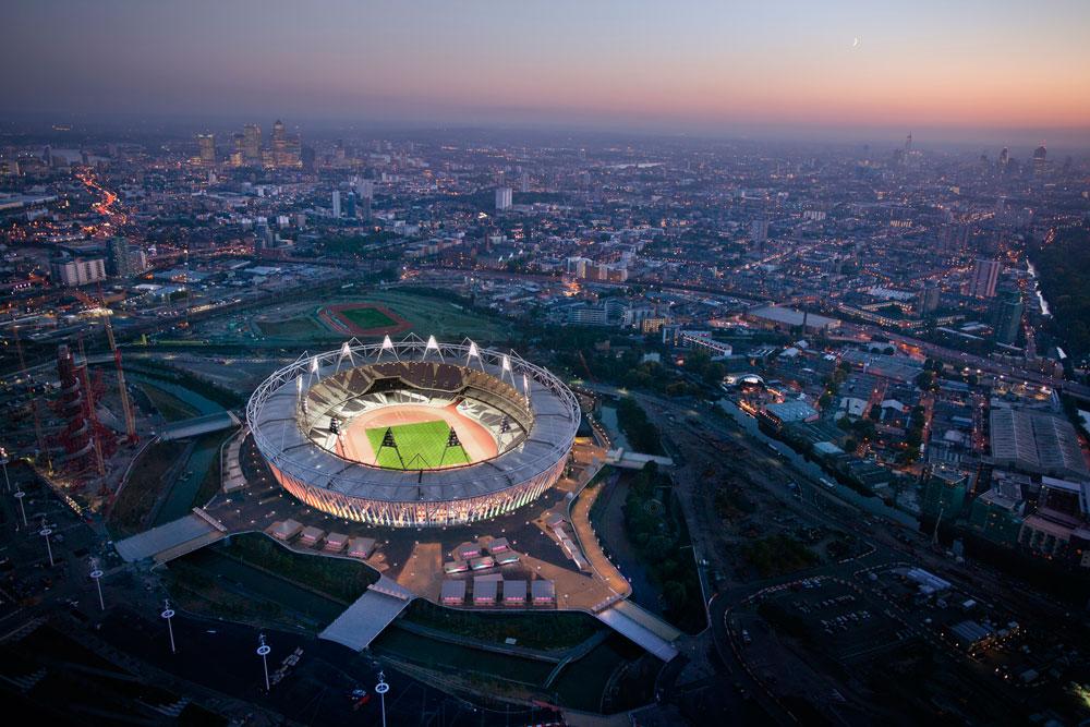 לצורך ההקמה של האצטדיון נעשה שימוש ב-11 אלף טונות פלדה. לשם השוואה, בבייג'ין השתמשו ב-42 אלף טונות פלדה (צילום: CGI, London 2012)