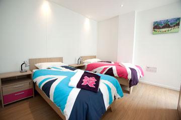 חדר לדוגמה של הספורטאים (צילום: David Poultney, London 2012)