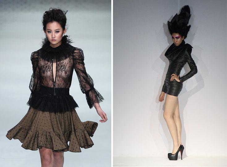 תצוגות אופנה בסין. ברכבת התחתית של שנחאי, הבגדים האלו לא יתקבלו בברכה (צילום: gettyimages)