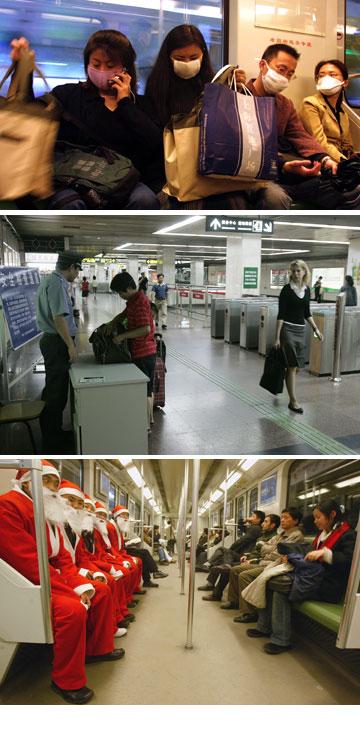 הרכבת התחתית בשנחאי. רוצים לחנך נשים איך להתלבש (צילום: gettyimages)