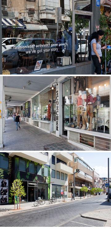27 חנויות ריקות. רחוב שינקין בתל אביב (צילום: אביעד בר נס )