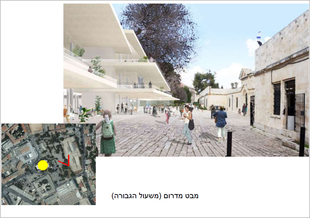האדריכלים היפנים סג'ימה ושיזאווה (SANAA) בשיתוף המשרד הישראלי ניר-קוץ אדריכלים יצרו קירות מסך זכוכית שמעליהם מרחפים גגות שטוחים בגדלים משתנים (הדמיה: ניר-קוץ אדריכלים, SANAA)