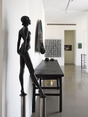 בעלת הבית מילאה אותו ביצירות אמנות (צילום: עמית גרון )