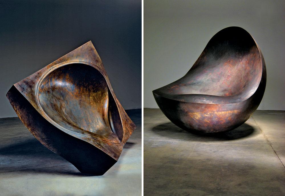 אמנות, עיצוב, אדריכלות: בעוד שהמעטפת של המוזיאון עשויה קורטן מחליד בתכנונו של ארד, בפנים אפשר לפגוש את הפריטים הללו (צילום: Erik and Petra Hesmerg)